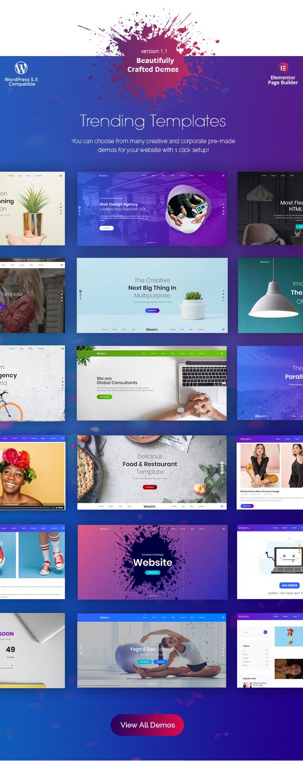 Wexim - Creative WordPress Theme - 3